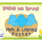 Spring has Sprung! Math and Literacy Packet