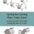 Spring has Sprung Place Value Game (UPDATED)