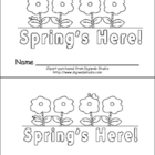 Spring is Here Emergent Reader- Preschool or Kindergarten