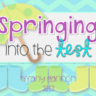 Springing Into the Test Centers {Test Prep Math and Litera