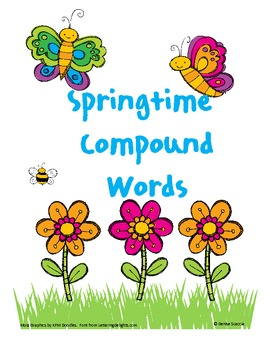 Springtime Compound Words Literacy Center/Activity
