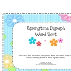Springtime Digraph Word Sort