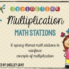Springtime Multiplication Math Stations