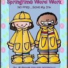 Springtime Word Work Freebie...No Prep...Save My Ink