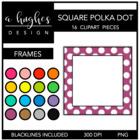 Square Polka Dot Frames {Graphics for Commercial Use}