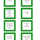 St. Patrick's Day Activity Idea Cards