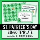 St. Patrick's Day Bingo Game Template