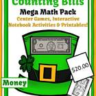 St Patricks Day Counting Bills Mega Math Pack