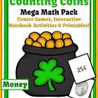 St Patricks Day Counting Coins Mega Math Pack