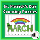St. Patrick's Day Counting Puzzles {Common Core Aligned}
