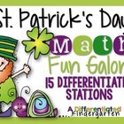 St. Patrick's Day Differentiated Math Stations Galore-15 S