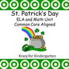 St. Patrick's Day ELA and MAth Unit Common Core Aligned