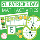 St. Patrick's Day Five and Ten Frame Activities for ECE