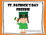 St. Patrick's Day Free Printables