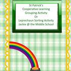 St. Patrick's Day Grouping or Matching Activity