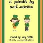 St. Patrick's Day Math Activities - Common Core Standards