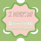 St. Patrick's Day Math Activity Packet