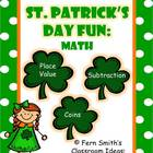 St. Patrick's Day Math Centers and Math Lessons