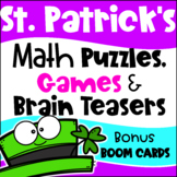 St. Patrick's Day Math Games Puzzles and Brain Teasers