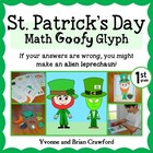 St. Patrick's Day Math Goofy Glyph (1st grade Common Core)