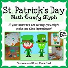 St. Patrick's Day Math Goofy Glyph (6th grade Common Core)