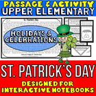 St. Patrick's Day Passage and Activity for INTERACTIVE NOTEBOOKS