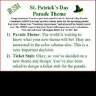 St. Patrick's Day Persuasive Writing Idea (design parade theme)