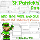 St Patricks Day: Read, Trace, Glue, and Draw