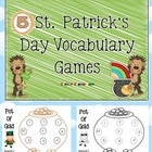 St. Patrick's Day Vocabulary Center Games x 5 - 27 pages