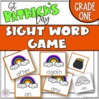 St Patrick's Day Sight Word Game Grade One Dolch List