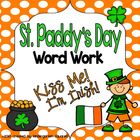 St. Patrick's Day Word Work Literacy Stations and Centers