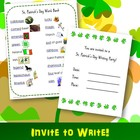 "St. Patrick's Day Writing Activity:  ""Invite to Write"" a L"