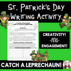 FREE St. Patrick's Day Writing Idea (how to catch a Leprechaun)