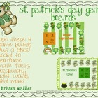 St. Patrick's Day game board FREEBIE