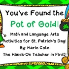 St. Patrick's: Pot of GOLD {Literacy and Math activities a