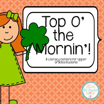 St. Patty's Day Literacy Centers - Comprehension and Word