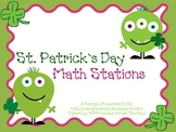 St. Patty's Day Math Stations