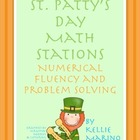 St. Patty's Day Numerical Fluency and Problem Solving Stations