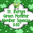 "St Patty's Math Station ""Monster Number Squeeze!"" 0-50"