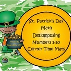 St.Patrick's Day Math-Decomposing Numbers 1-10 Activity Mats