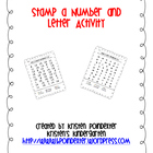 Stamp a Number or Letter