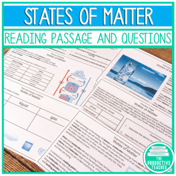 Standardized Testing - Reading Practice - States of Matter: Water