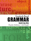 Standards Based Grammar: Grade 3 Soft Cover