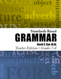 Standards Based Grammar: Grades 7-8 Soft Cover