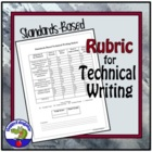 Standards-Based Technical Writing Rubric