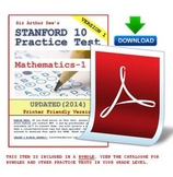 SAT-10 (Stanford) Practice Test in Mathematics-Grade 1