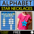 FREEBIE! Star Letter Necklaces A-Z