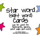 Star Word (sight word) Cards