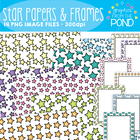 Stars Borders / Frames - Graphics for Teaching Resources