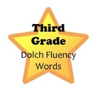 Stars! Third Grade Reading Fluency Dolch Word Wall Words &